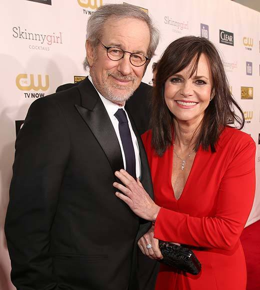 Critics' Choice Awards 2013: Red Carpet Arrivals: Sally Field; Steven Spielberg