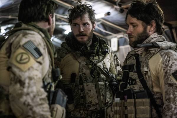 """Zero Dark Thirty"" is expected to gross about $20 million this weekend. The cast includes Chris Pratt, center, and Joel Edgerton, right."
