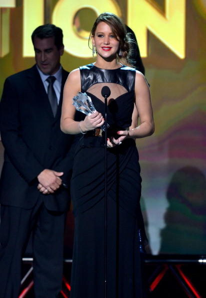 Critics' Choice Awards 2013: The Best & Worst: The Hunger Games won its one and only Critics Choice Movie Awards nomination thanks to Jennifer Lawrence. She was named Best Actress in an Action Movie, and accepted her award by thanking author Suzanne Collins, director Gary Ross and the critics who voted for her. Critics arent so bad, she said. On behalf of the entire crew of The Hunger Games, all the sweat was worth it. It was so hot filming that movie.   --Terri Schwartz, Zap2it