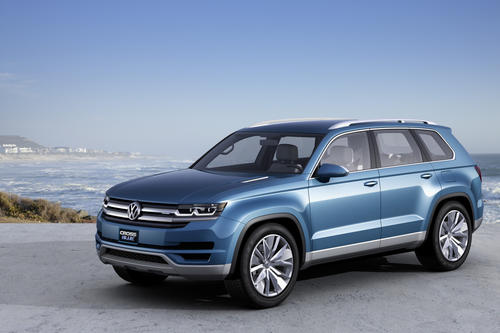 Volkswagen debuted this CrossBlue Concept at the 2013 Detroit Auto Show. The company will likely put a similar vehicle into production in 2014. The volume crossover SUV will compete with the Ford Explorer, Dodge Durango, and Nissan Pathfinder.