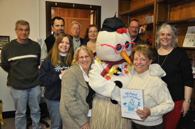 Even Frosty the Snowman is excited about the tropical paradise that is coming to Uptown Somerset during the 18th Annual Fire & Ice Festival held on Jan 18- 20. Members of Somerset, Inc. want to encourage the community to come out for the festivities.