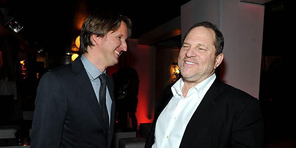 """Les Miserables"" director Tom Hooper and producer Harvey Weinstein may have reason to party Sunday night."