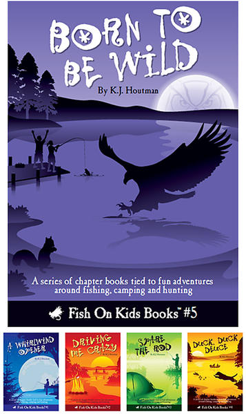 A new series of children's books by author K.J. Houtman is getting kids hooked on the outdoors.