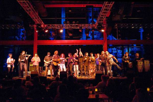 Performers at the Concert for the Cause Hurricane Sandy benefit show Nov. 30 at Musikfest Cafe included Nyk Van Wyke (with fiddle, left) and Craig Thatcher (on guitar, center).