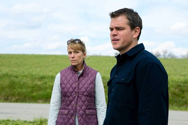 Matt Damon (right) and Frances McDormand star in 'Promised Land,' a fictionalized movie about a real-life scandal that is harming Pennsylvania.