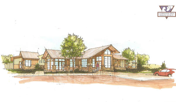 This schematic drawing shows a new animal shelter and adoption center the Charlevoix Area Humane Society hopes to construct for which the organization is launching a capital campaign this year.