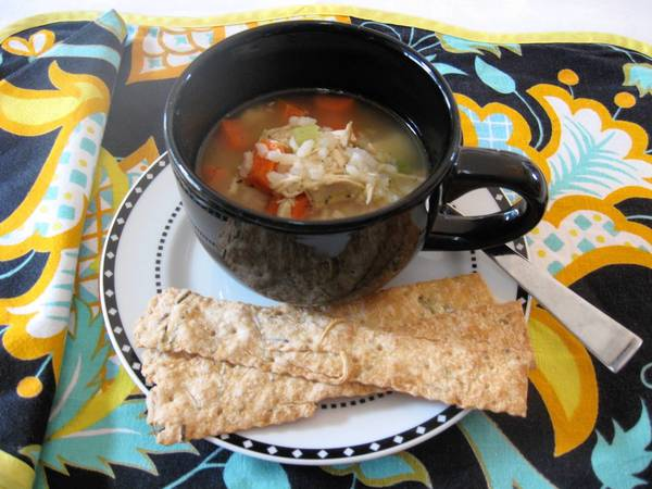 Chicken soup is an easy dish to make to soothe cold and flu sufferers.