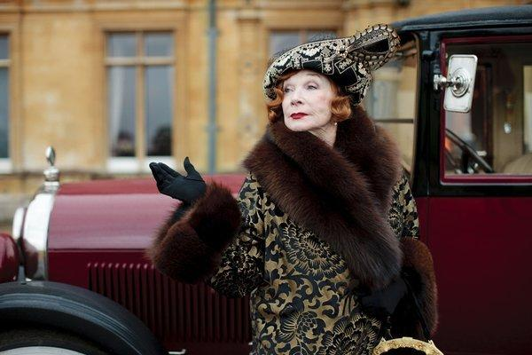 Martha Levinson (Shirley MacLaine) depicts the fairer sex with style on Downton Abbey