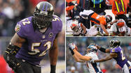 Broncos TE Joel Dreessen and Jacob Tamme vs. Ravens ILB Ray Lewis