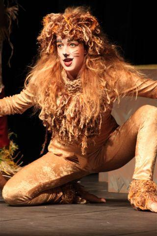 "Dana Reynolds is the Lion in the Petoskey High School Drama Department's ""Wizard of Oz"" production."