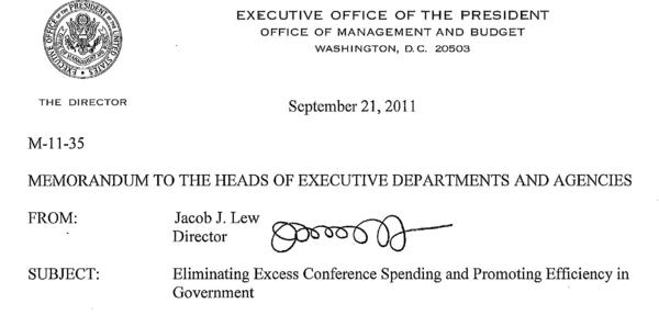 A 2011 Office of Management and Budget memo features the signature of Treasury secretary nominee Jacob J. Lew.