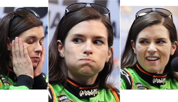 Danica Patrick during a press conference at the first day of testing at Daytona International Speedway on Thursday, January 10, 2013.
