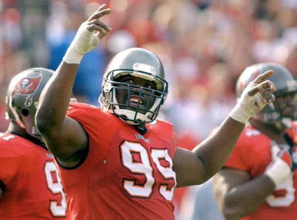 Warren Sapp with the Tampa Bay Buccaneers in 2003.