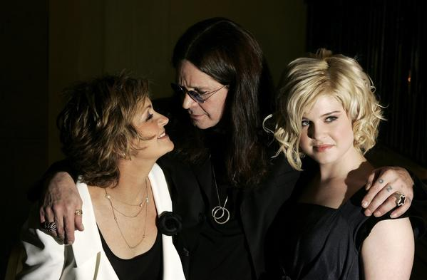 Sharon Osbourne, Ozzy Osbourne and their daughter Kelly Osbourne in London in 2006.