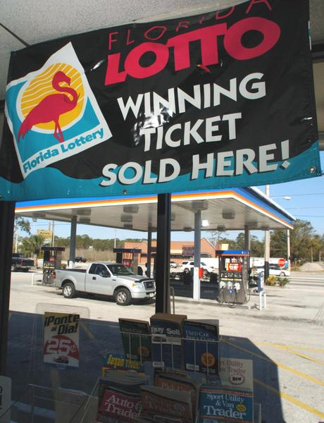 Each of the lottery's 13,200 retail stores gets 5 percent of ticket sales, a 1 percent commission on tickets it cashes, plus bonuses. A big Powerball winner, for example, nets a store $100,000. So they're rooting for you.