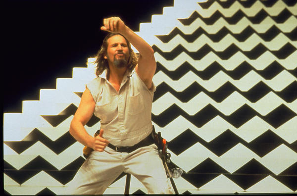 "Jeff Bridges as the Dude in ""The Big Lebowski."""