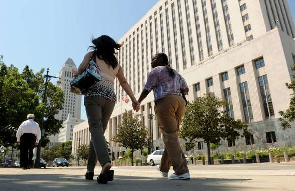 California's Interest on Lawyer Trust Accounts, or IOLTA, program raises money to fund legal services for those who can't afford them. Above: the federal courthouse in Los Angeles.