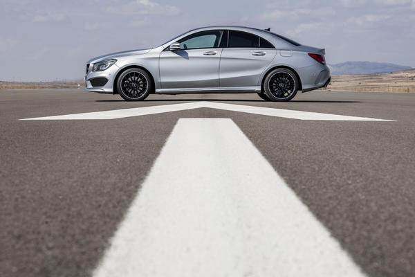The all-new 2014 Mercedes-Benz CLA250 will be the first front-wheel-drive car sold by Mercedes in the U.S. in decades. It has a turbocharged 2.0-liter four cylinder engine that makes 208 horsepower and 258 pound-feet of torque.
