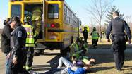 Batavia students quickly hopped single-file out of the back of a bus on a recent school day while some of their classmates were tended to by first-responders.