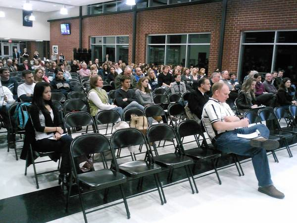 More than 140 people attended the district's board meeting this month, many of whom addressed the issue of putting the referendum on the ballot.