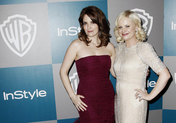 Tina Fey, left, and Amy Poehler are the hosts of the 2013 Golden Globe Awards.