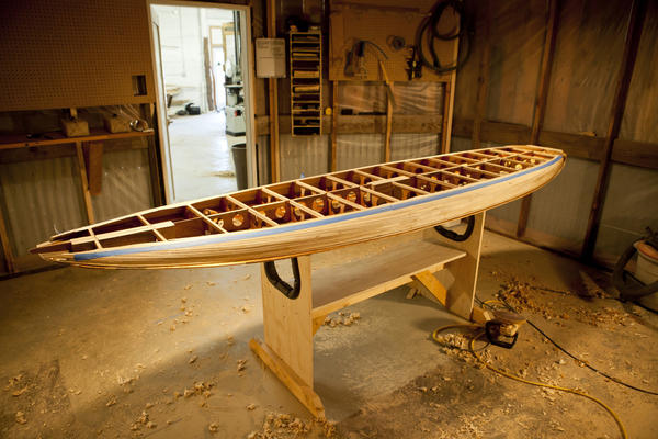 This is an example of the paddleboards that Evan Patronik helps to produce in Colorado with the company Carve Industries.