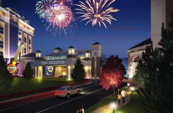 Artist's renderings of Hard Rock New England at the Eastern States Exposition in West Springfield.