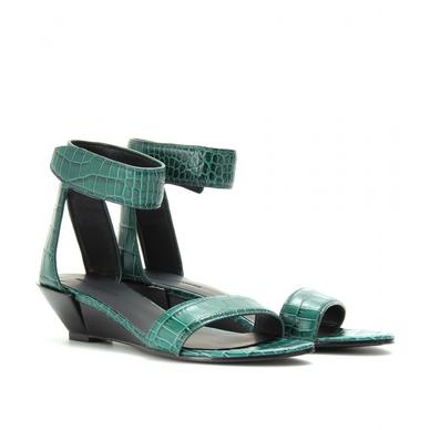 <p>The Alexander Wang Vika Croco embossed wedge sandals, $743 from <a h