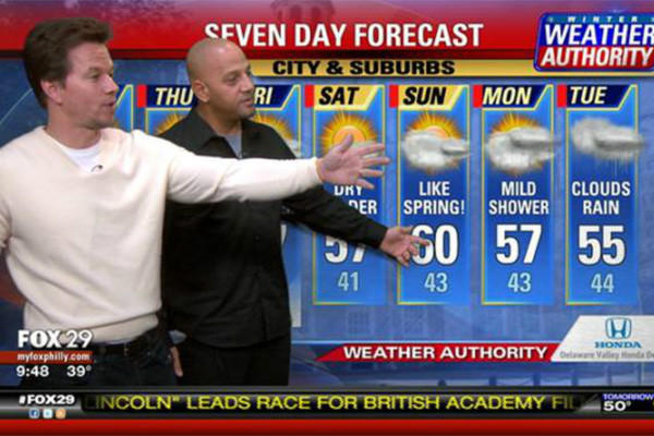 Mark Wahlberg, weatherman? For anyone wishing Wahlberg could step into their shoes for a day, a few Philadelphia morning newscasters got the chance.