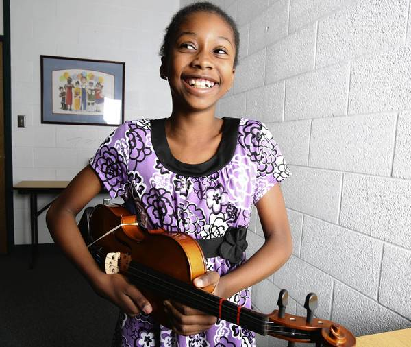 Michaele Dumorne, a fifth grader at Eccleston Elementary, came to the United States with her family after an earthquake devastated Haiti three years ago.