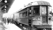 With both a bang and a whimper, the North Shore railroad, half a century ago this month, pulled the plug on a trolley wire that stretched from Chicago to Milwaukee and made the fortunes of towns in between.