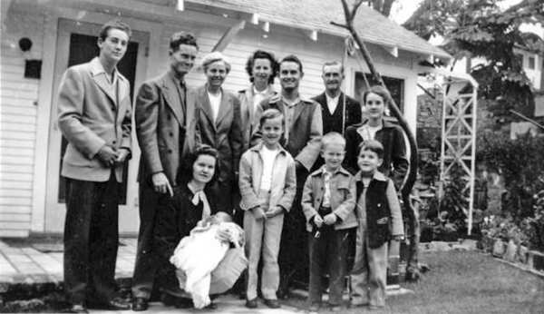 Ivan Forbes, far left, stands with family members in front of the Forbes home on Perlita Avenue. Famed photographer Edward Weston and his wife Flora lived across the street from them.