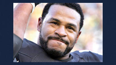 In this Jan. 1, 2006 file photo, Pittsburgh Steelers running back Jerome Bettis salutes fans after rushing for his third touchdown of the game against the Detroit Lions in Pittsburgh. Bettis is a finalist for the Pro Football Hall of Fame, the hall announced Friday.