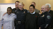 An Anchorage Police Department officer will head to South Korea with four Alaskan Special Olympians later this month.