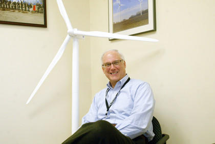 Dave Giovannini, the senior vice president of Molded Fiber Glass, will be overseeing the production of a larger wind blade at MFG's Aberdeen facility.