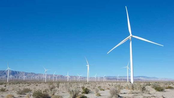 Turbines stand on the west side of Ocotillo.