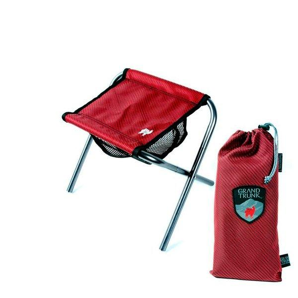 Have a seat -- anywhere. The Grand Trunk Collapsible Micro Stool weighs 10 ounces and supports up to 250 pounds.