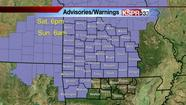 Freezing rain and sleet expect afternoon and evening