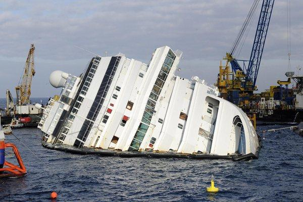 The Costa Concordia on Italy's Giglio island on Saturday.