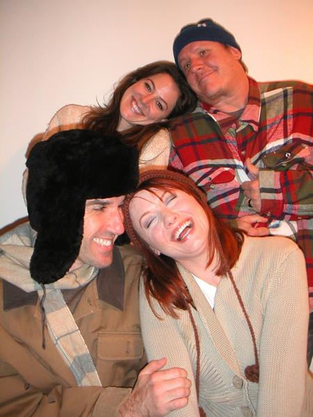 "Gemma Fearn (clockwise from top left), Don Fowler, Michele Simms Feren and Ryan Gigliotti star in ""Almost, Maine."""