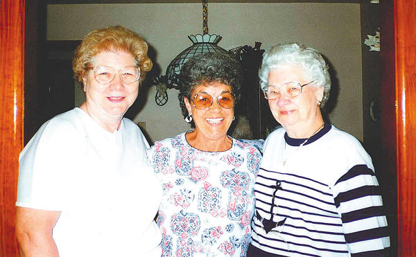 Betty Rockwell, center, is shown with two of her friends from the Funkstown American Legion ¿ Maxine McDonald, left, and Dottie Papa ¿ in this photo taken several years ago.
