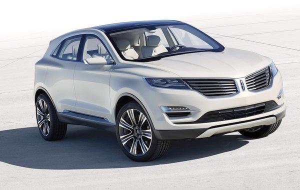 Lincoln unveiled this MKC concept ahead of the 2013 Detroit Auto Show. It hints at a compact crossover SUV the company will likely make as a 2014 model. It shares a platform with the Ford Escape.