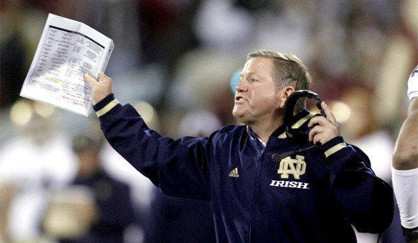 Notre Dame Coach Brian Kelly was chosen the AP coach of the year.