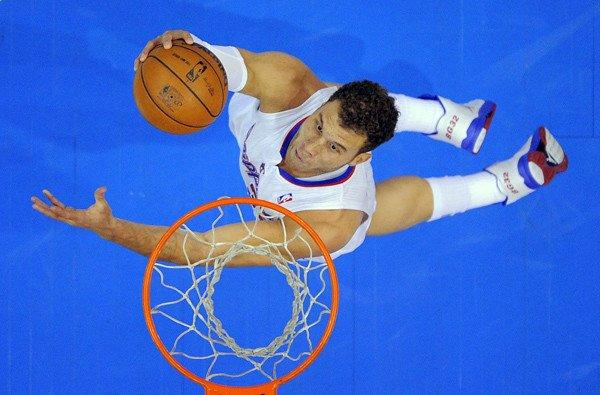 Clippers power forward Blake Griffin elevates for a shot against the Magic on Saturday afternoon at Staples Center.