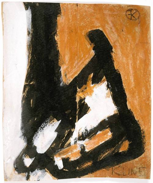 Franz Kline (1910-1962), Untitled, 1949, oil on paper, on display in 'Franz Kline: Coal and Steel' at the Allentown Art Museum through Jan. 13.