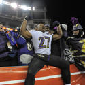 Ray Rice celebrates with fans