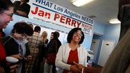 Jan Perry banks on grass-roots support in L.A. mayor race