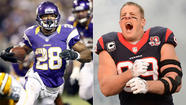 Adrian Peterson, J.J. Watt are unanimous AP All-Pro selections