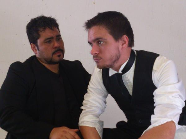 "Jo'el Perez (left) and Samuel Butcher play brothers contemplating the end of the world in ""93 Days."""