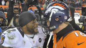 Ray Lewis jubilant after victory over Broncos
